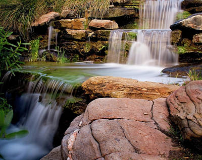 Thorndon Falls Art Print by Heather Thorning
