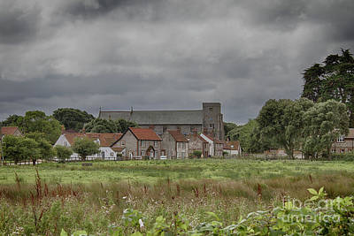 Broad Photograph - Thornham From The Marsh by John Edwards