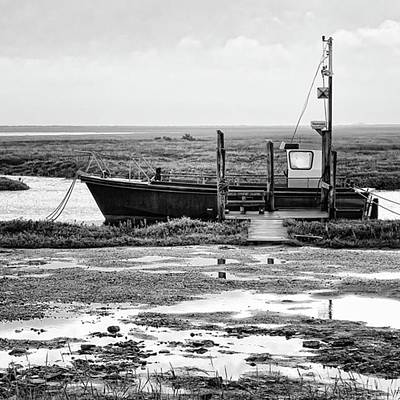 Boat Photograph - Thornham Harbour, North Norfolk by John Edwards