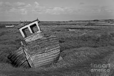 Swamp Digital Art - Thornham Wreck by John Edwards