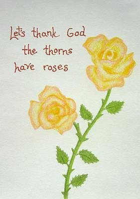 Appreciate Drawing - Thorns by Margie Leeper