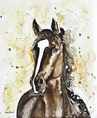 Race Horse Painting - Thoroughbred by Shaina Stinard