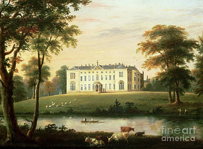 Park Scene Painting - Thorp Perrow Near Snape In Yorkshire by English School
