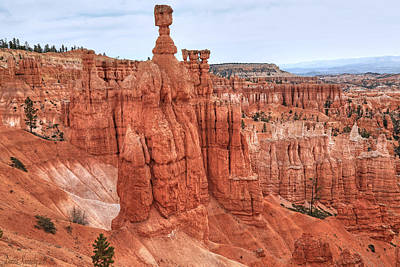 Thors Hammer At Bryce Canyon Art Print by Donna Kennedy