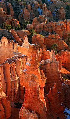 Thor's Hammer At Sunrise In Bryce Canyon Art Print by Pierre Leclerc Photography