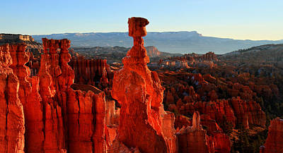 Thor's Hammer In Bryce Canyon At Sunrise Art Print by Pierre Leclerc Photography