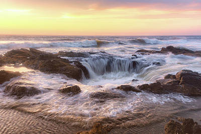 Photograph - Thor's Well by Allen Biedrzycki