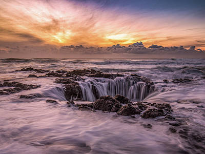 Photograph - Thor's Well by Bryan Xavier