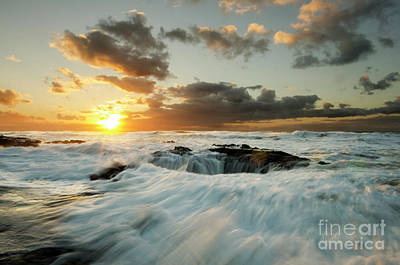 Photograph - Thors Well Cape Perpetua 1 by Bob Christopher
