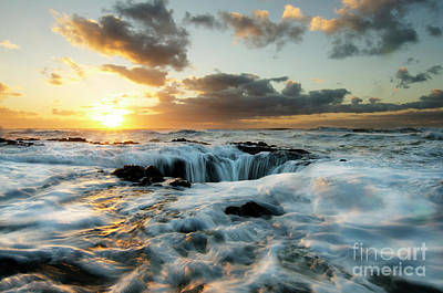 Photograph - Thors Well Cape Perpetua 2 by Bob Christopher