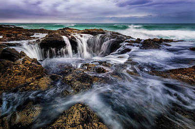 Photograph - Thor's Well by Dave Koch