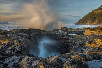 Photograph - Cape Perpetua Thor's Well Oregon by Rick Dunnuck