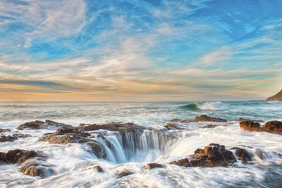 Photograph - Thor's Well by Russell Pugh