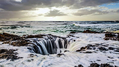 Photograph - Thor's Well by Walt Baker