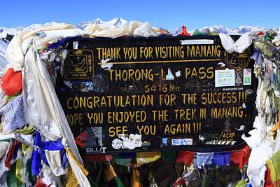 Photograph - Thorong La Pass, Annapurna, The Himalayas, Nepal by Aidan Moran