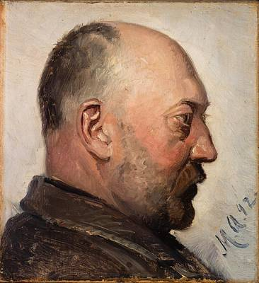 Abstract Painting - Thorvald Bindesboll By Michael Ancher, 1892 by Celestial Images