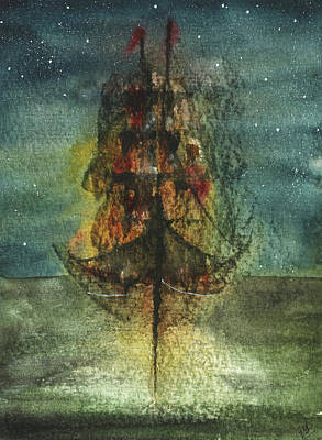 Painting - Those Abandoned Sails by Garima Srivastava