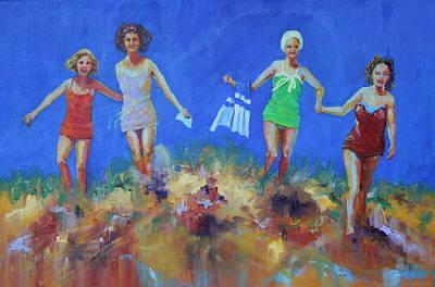 Sanddunes Painting - Those Daring Woollen Suits by Marie Green