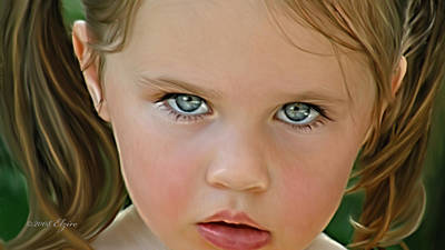 Those Eyes Art Print by Elzire S