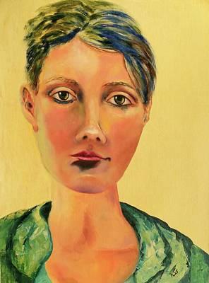 Painting - Those Eyes by Kim Shuckhart Gunns