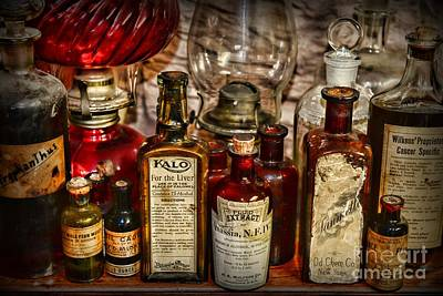 Mortar Photograph - Those Old Apothecary Bottles by Paul Ward