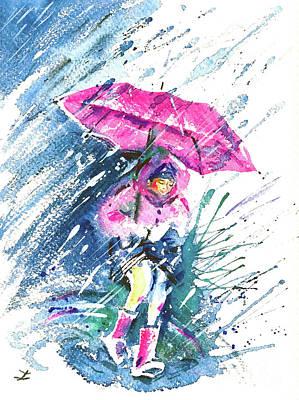 Painting - Those Pink Times by Zaira Dzhaubaeva