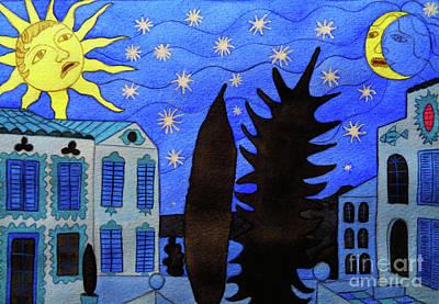 Those Romantic Nights Art Print