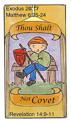 Revelation Drawing - Thou Shalt Not Covet by Chayla Dion Amundsen-Noland