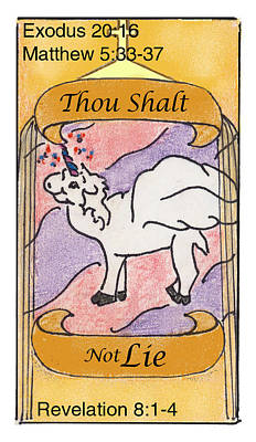 Revelation Drawing - Thou Shalt Not Lie by Chayla Dion Amundsen-Noland