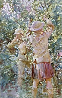 Trench Painting - Thou Shalt Not Steal by John Singer Sargent