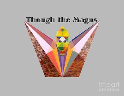 Painting - Though The Magus Text by Michael Bellon