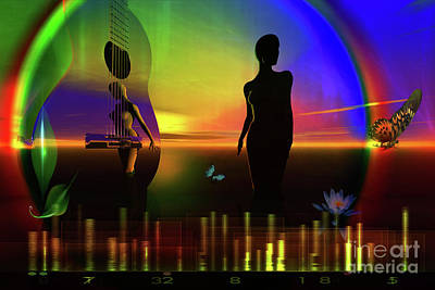 Print featuring the digital art Thought Form by Shadowlea Is