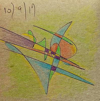 Abstract Drawing - Thought Pad Series Back Paper by Dave Martsolf