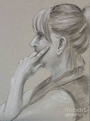 Drawing - Thoughtful by Barbara Oertli