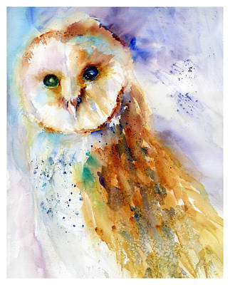 Painting - Thoughtful Barn Owl by Christy Lemp