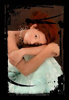 Thoughts Digital Art - Thoughtful by Gun Legler