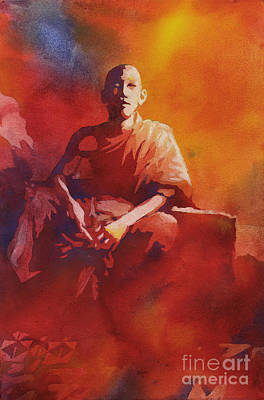Cambodia Painting - Thoughtful Moment- Nepal by Ryan Fox