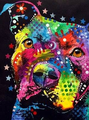 Pit Bull Mixed Media - Thoughtful Pit by Dean Russo