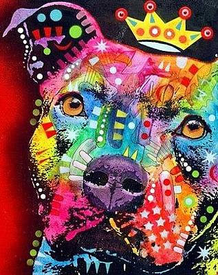 Pit Bull Mixed Media - Thoughtful Pitbull by Dean Russo