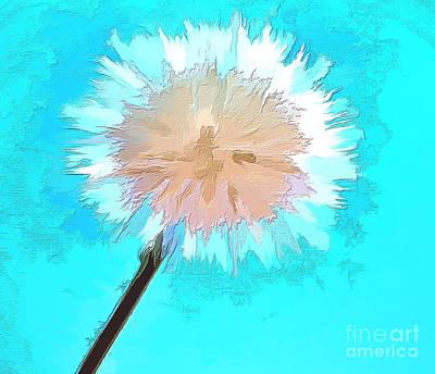 Abstract Digital Art Photograph - Thoughtful Wish by Krissy Katsimbras