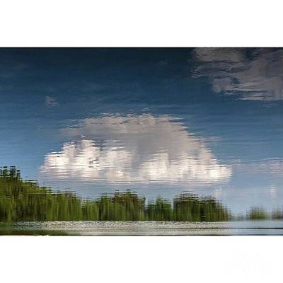 Reflection Wall Art - Photograph - Thought Clouds Reflection In A Lake by Larry Braun