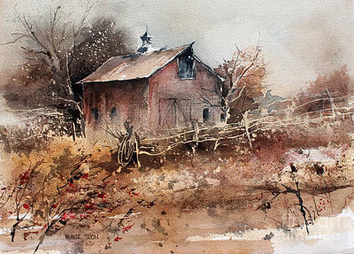 Painting - Thoughts Of Autumn by Monte Toon