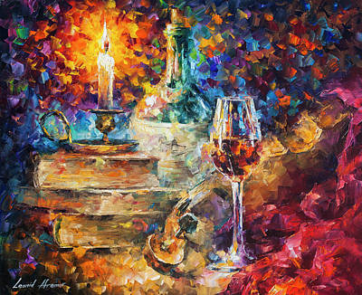 Candel Painting - Thoughts Of Composing by Leonid Afremov