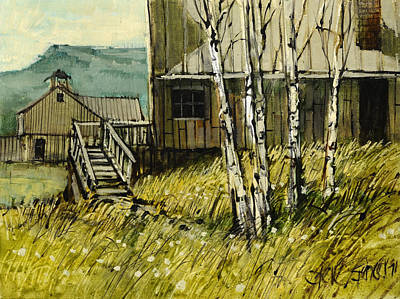 Ghost Town Painting - Thoughts Of Gilmore Idaho by Steve Spencer