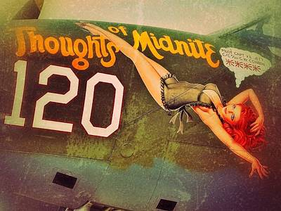 Noseart Photograph - Thoughts Of Midnite by Pair of Spades