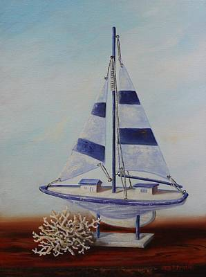 Painting - Thoughts Of Sea by Judy Bradley