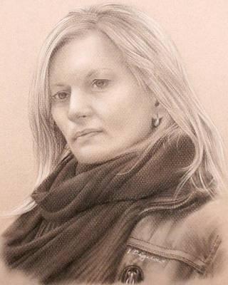Thoughts Of Winter Art Print by Lauren Bigelow