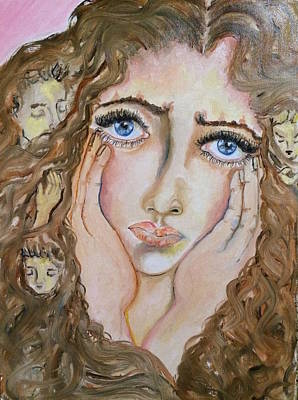 Thoughts Art Print by Sangeetha Bansal