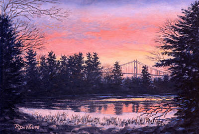 Thousand Islands Painting - Thousand Island Sunrise by Richard De Wolfe