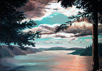 Thousand Islands Painting - Thousand Island Sunset by Hanne Lore Koehler